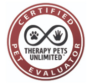 Therapy Pets Unlimited Pet Evaluator Badge